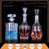 Кристаллический стеклянная бутылка для упаковки вина