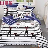 Linge de lit réagi en coton imprimé 4PCS