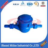Plastic Multi-Jet Vane Wheel Dry-Dial Compteur d'eau froid (chaud) pour l'eau portative