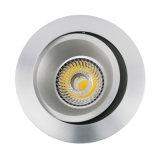 Indicatore luminoso messo rotondo del punto del soffitto di inclinazione dell'alluminio GU10 MR16 del tornio (LT2204B)