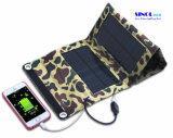 bewegliche Solaraufladeeinheit des faltbaren Sonnenkollektor-7W für Smartphones, GPS, Ereaders, Gopro Kamera