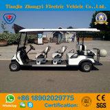 Zhongyi 8 passageiros fora do carro de golfe Sightseeing elétrico da canela clássica a pilhas da estrada com alta qualidade