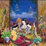 Tela di canapa del cotone di arte di Giclee di alta qualità/ragazze domestiche basse di seta della pittura della decorazione 50*50cm Bmcp01013