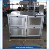 2개의 바디 스테인리스 장례식 장비 시체실 냉장고