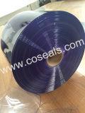 Tenda trasparente blu-chiaro di Stirip del portello del PVC della plastica