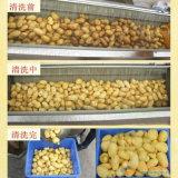 Aardappels die het Ergonomische Plantaardige Schilmesje van de Wasmachine borstelen