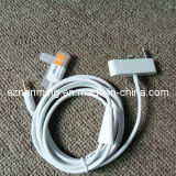 USB 8pin 3.5mm Aux Connector Car Data Audio Cable für iPhone 5 120cm