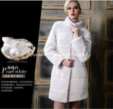 2014人の熱い販売のブランドの女性擬似Foxの毛皮のコート(Qy-C33)