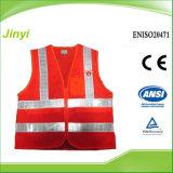 Safet Vest con il PVC Lattice Strip di Twill Pocket e di White