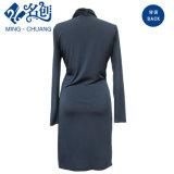 Dame-Form V-Stutzen Kleid mit langen Hülsen