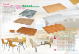 Werzalit ha modellato stampare il piano d'appoggio rettangolare del ristorante