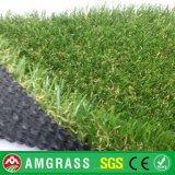 40mmの高さの紫外線抵抗V本の形の庭及びバルコニーの人工的な泥炭の草