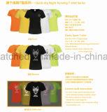 反射Tシャツシリーズを実行するQuick-Dry夜
