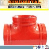 FM/UL Approved Ductile Iron Grooved Pipe Fitting Equal Tee