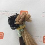 Extensions plates de la meilleure qualité de cheveux humains d'extrémité avec le cheveu malaisien