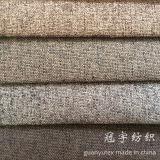 Tejido de lino sintéticas de poliéster 95% 5% de nylon para la decoración del hogar