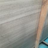 Marbre en bois blanc bon marché de veine, tuiles en bois blanches et brames de marbre de veine
