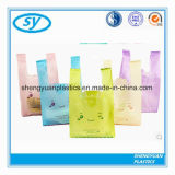 HDPE 쇼핑을%s 다채로운 플라스틱 t-셔츠 부대