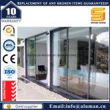 Portes en verre de glissement intérieures d'alliage d'aluminium des prix bon marché doubles