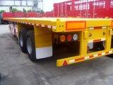 Semi-reboque de transporte de contentores de plataforma amplamente utilizada