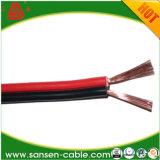 黒くか赤いPVC銅ケーブルのこんにちは終りの可聴周波スピーカーケーブル