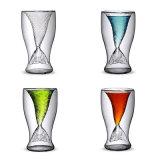Tazza di tè di vetro di figura popolare dei pesci (CHT8625)