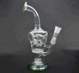 Tubulação de água de fumo de vidro do projeto o mais novo com giro de Perc