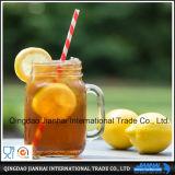 Tarro de masón de cristal transparente para la bebida y el jugo