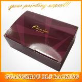 Boîte de papier à chocolat avec le logo adapté aux besoins du client