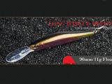 Attrait en plastique de pêche (vairon de languette longue 90mm flottant)