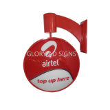 Airtel Round Rotating Light Box