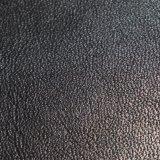 Einfaches Schwarzes PU-Leder für Aufladung, dunkle Farben-Schuh-Leder