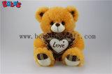 """O presente corporativo Brown da venda 12 de Hote """" encheu o urso da peluche com descanso do coração"""