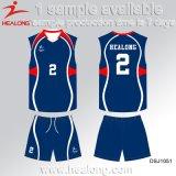 Voleibol de encargo Jersey de la sublimación de la ropa de deportes superior de la venta de Healong