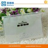 Bolso de ropa plástico claro transparente de la cremallera del PVC de la alta calidad