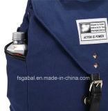 Sac à dos de sacoche pour ordinateur portable de Canvas Sport de mode de Madame