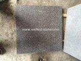 Lastricatore nero della pietra delle mattonelle del granito della perla G684 per il patio, garage, terrazzo, pavimentazione del raggruppamento