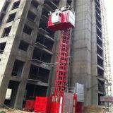 Fábrica de China 2t la doble carga de la jaula de elevación grúa de construcción ascensor