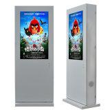 キオスクを広告する49インチの床の立場防水屋外LCD
