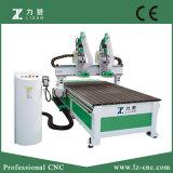 Herramienta de la maquinaria de carpintería del CNC de dos ejes de rotación