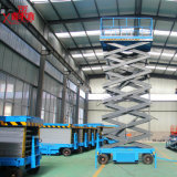 持ち上げ装置の空気のプラットホームの構築機械装置を切りなさい