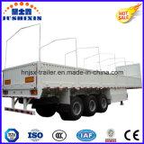 キャンバスフレームが付いている公認ISO CCC 3の車軸33ton側面のトラックのトレーラー