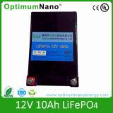 Ciclo de profunda 12V 10AH Bateria de lítio para lâmpada de Relva