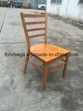 Restaurante de encargo que cena la silla del metal con el asiento de madera (FOH-C001)