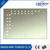 Interruptor táctil posterior LED iluminado espejo del baño con impermeable
