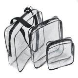 فينيل [بفك] سفر مستحضر تجميل يعبّئ حقيبة مع سحّاب وعلامة تجاريّة