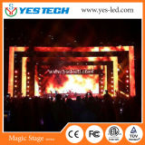 Alquiler P4.8mm pantalla LED de color para realizar eventos