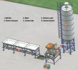 Máquina de tratamento por lotes concreta pequena estacionária da construção de planta de Hzs25m3/H