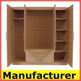 卸し売り安いKdデザイン現代メラミン木の寝室のワードローブ