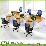 Projekt-vorbildliche Fabrik-hölzerner 6 Sitzbüro-Tisch-Teiler-linearer Arbeitsplatz